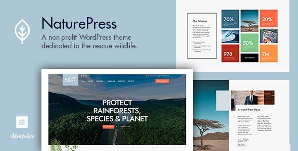 NaturePress - Ecology & Environment WordPress Theme - Environmental Nonprofit