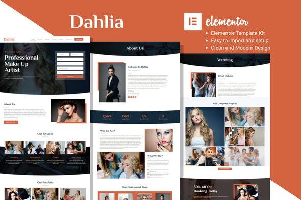 Dahlia - Beauty Business Elementor Template Kit - Fashion & Beauty Elementor