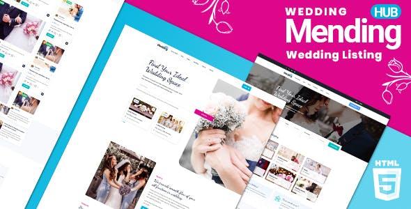 Mendinghub | Wedding Listing HTML5 Template