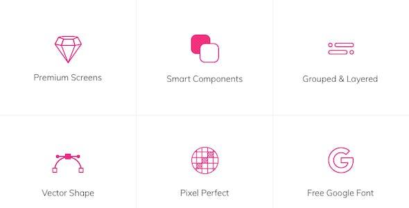 Lifesum Health and Fitness Mobile App UI kit - Figma