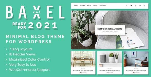 Baxel - Minimal Blog Theme for WordPress - Personal Blog / Magazine