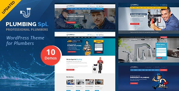 Plumbing Spl - Plumber WordPress Theme - Business Corporate