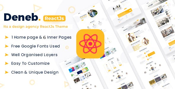 Download Deneb - Creative Portfolio React JS Theme