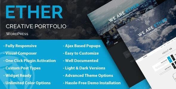 Ether - Creative Business WordPress Theme - Portfolio Creative
