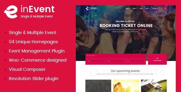 InEvent | Multi-Purpose for Conference Management WordPress Theme - WordPress