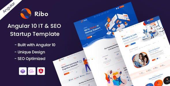 Download Ribo - Angular 10 IT & SEO Startup Template