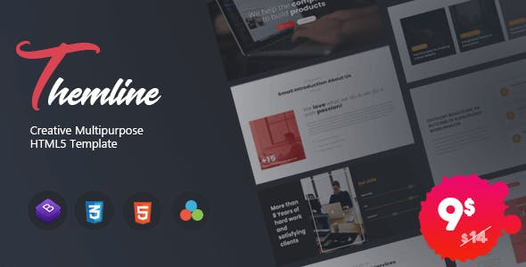 Download Themline - Creative Multipurpose One page Template