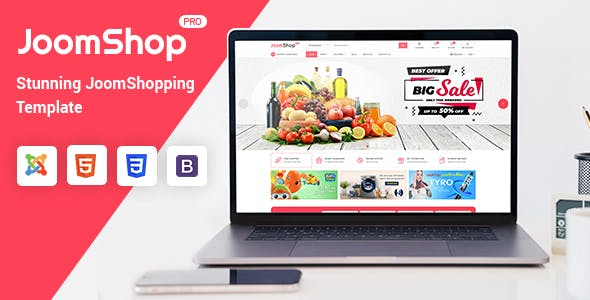 Download JoomShop - Responsive Joomla JoomShopping Template