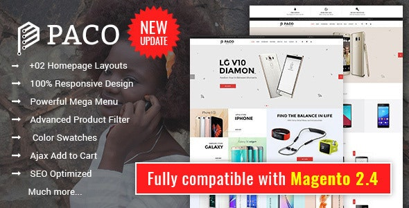 Paco - Responsive Multi-Purpose Magento 2 Theme - Shopping Magento