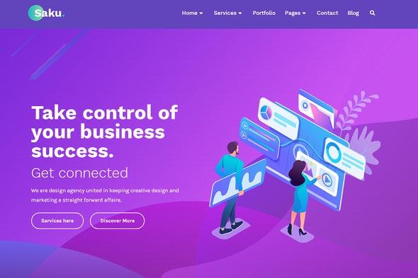 Saku - Business Agency Elementor Template Kit - Creative & Design Elementor