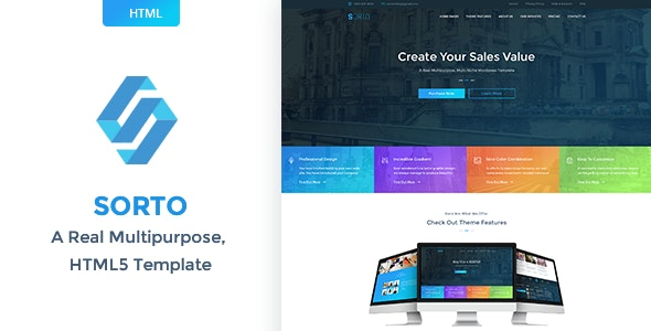 Sorto Multipurpose WordPress Theme - Corporate WordPress