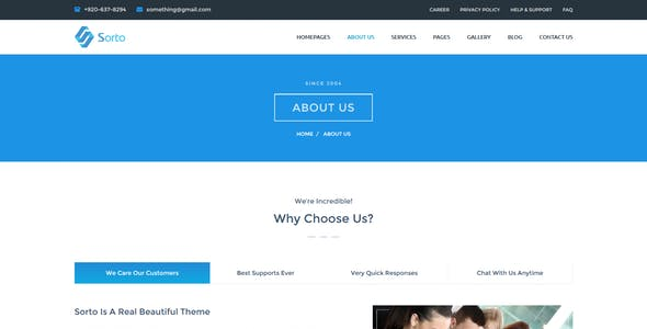 Sorto Multipurpose WordPress Theme
