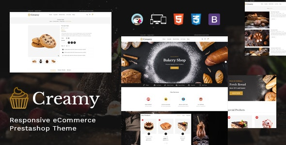Creamy - Bakery Prestashop Theme - Health & Beauty PrestaShop