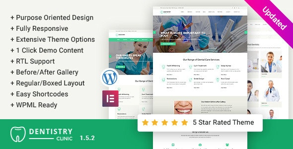 Dentistry – Dental Clinic WordPress Theme - Health & Beauty Retail