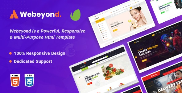 WeBeyond - Multipurpose HTML5 Template Package - Creative Site Templates