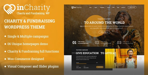 InCharity | Fundraising, Non-profit organization WordPress Theme - Charity Nonprofit