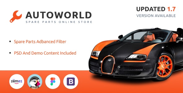 Autoworld - Spare Parts Responsive PrestaShop 1.6 and 1.7 Theme - PrestaShop eCommerce