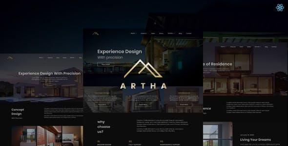 Download Artha - React Interactive Interior Template