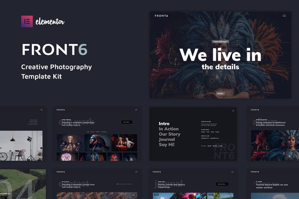 FrontSix - Creative Photography Template Kit - Photography Elementor