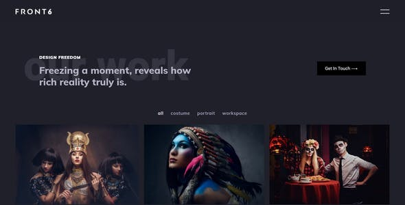 FrontSix - Creative Photography Template Kit