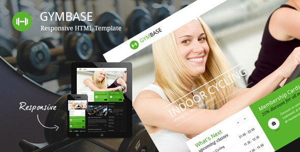 GymBase - Responsive Gym Fitness Template - Health & Beauty Retail