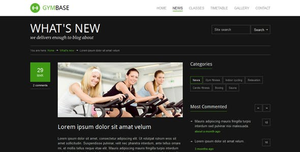 GymBase - Responsive Gym Fitness Template