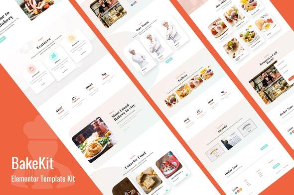 Bakekit - Food and Cake Elementor Template - Food & Drink Elementor