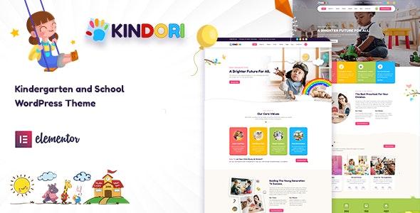 Kindori - School Kindergarten WordPress Theme - Education WordPress