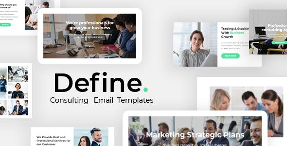 Define - Business And Financial Consulting Email Template - StampReady + Mailster & Mailchimp Editor