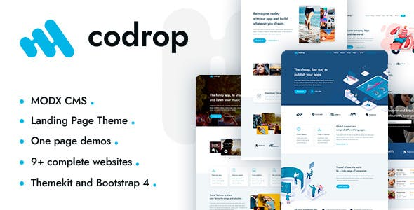 Download Codrop – App Landing Page And One Page MODX Theme