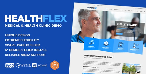 HEALTHFLEX - Doctor Medical Clinic & Health WordPress Theme - Health & Beauty Retail