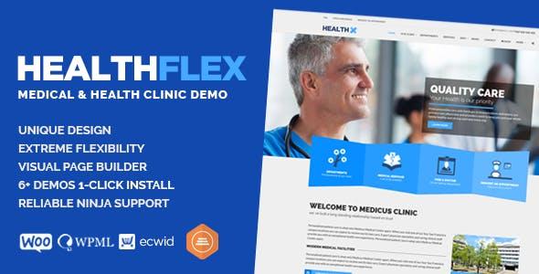 HEALTHFLEX - Doctor Medical Clinic & Health WordPress Theme