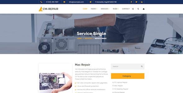 CM-repair - Computer and Mobile Repair Store React Template