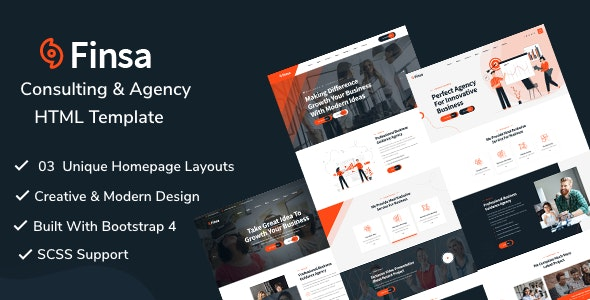 Finsa - Consulting & Agency HTML Template - Corporate Site Templates