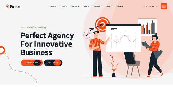 Finsa - Consulting & Agency HTML Template