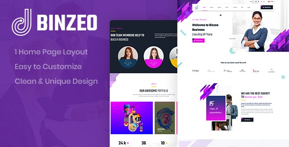 Binzeo - Consulting PSD Template - Business Corporate