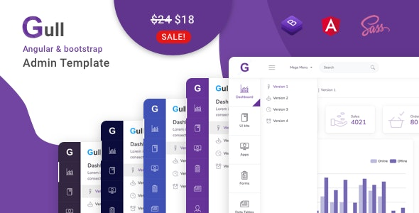 Gull - Angular 10+ Bootstrap Admin Dashboard Template - Admin Templates Site Templates