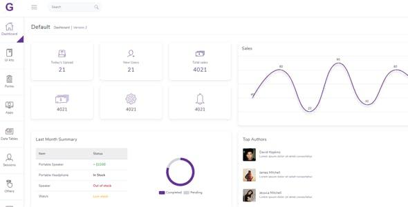 Gull - Angular 11+ Bootstrap Admin Dashboard Template