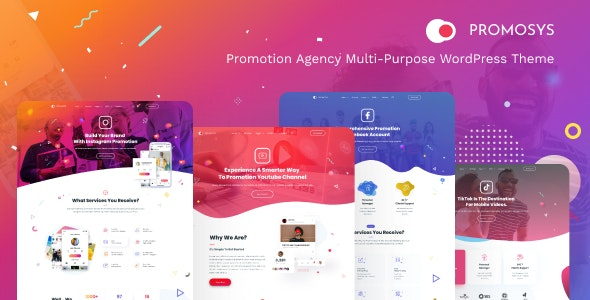 PromoSys - Promotion Services Multi-Purpose WordPress Theme - Marketing Corporate