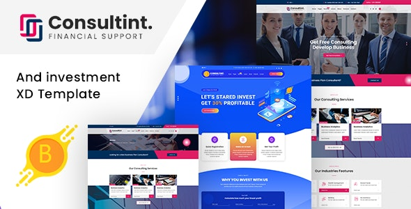 Consultint - Business & Investment Multipurpose XD Template - Business Corporate