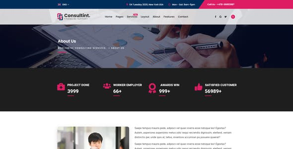 Consultint - Business & Investment Multipurpose XD Template