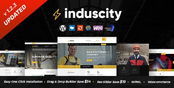 Induscity - Factory and Manufacturing WordPress Theme - Business Corporate