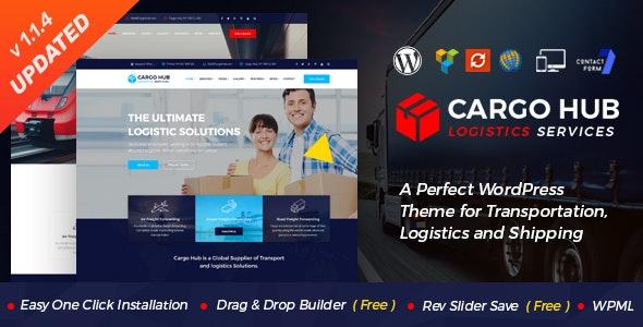 Cargo HUB - Transportation and Logistics WordPress Theme - Business Corporate