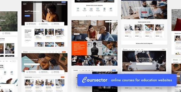 Coursector   LMS Education WordPress - Education WordPress