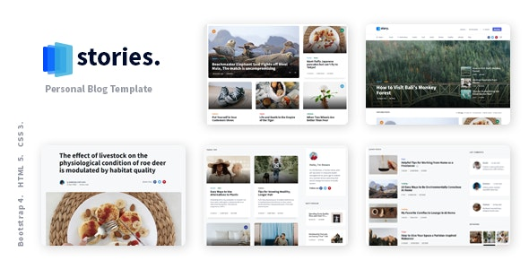 Stories - Personal Blog HTML Template - Personal Site Templates