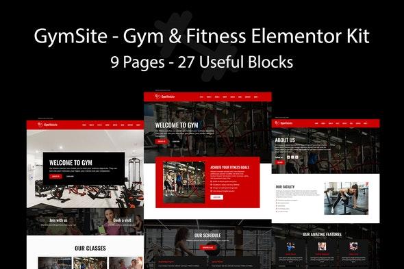 Gymsite - Gym & Fitness Elementor Template Kit - Sport & Fitness Elementor