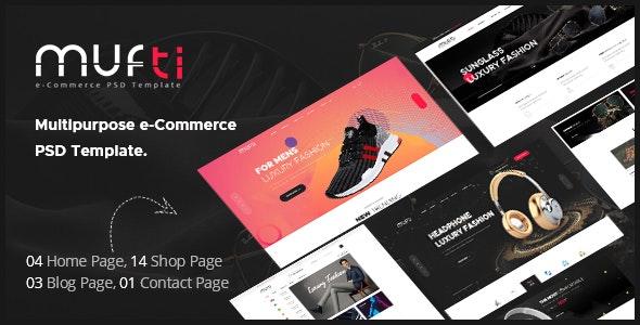 Mufti - Multipurpose e-Commerce PSD Template - Fashion Retail