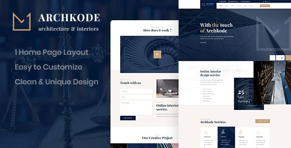 Archkode - Architecture PSD Template - Business Corporate
