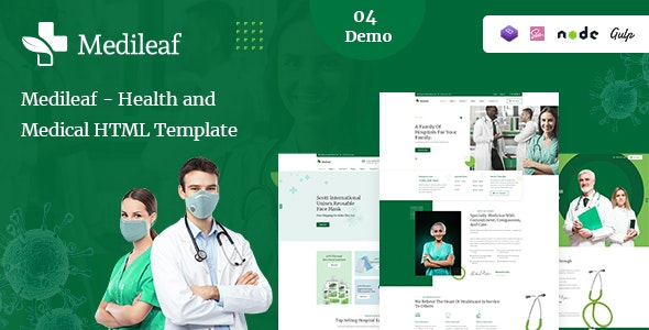 Medileaf - Health and Medical HTML Template - Health & Beauty Retail
