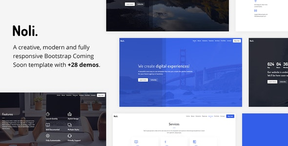 Noli - Responsive Coming Soon Template - Under Construction Specialty Pages
